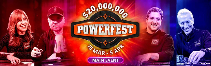 partypoker Powerfest Main Events по Омахе.